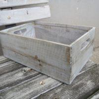 Bedýnka šedá dřevěná střední, 30x20x11cm
