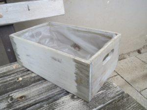 Bedýnka dřevo šedá malá, 26x15x10cm