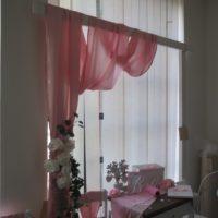 Dekorační textilie světle růžová, 5m x 0,7m