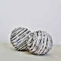 Koule dekorační stříbrná prům. 13 cm, sada 10 ks