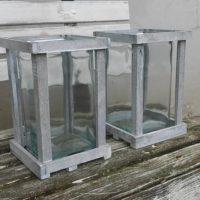Lucerna otevřená šedá, 15 x 15, v 24 cm, k dispozici 6 ks