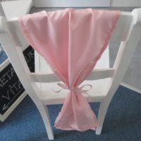 Mašle na židle světle růžová