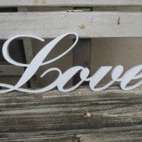 Nápis Love, v 14cm