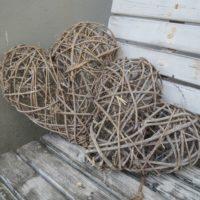 Proutěné srdce menší, 30 cm