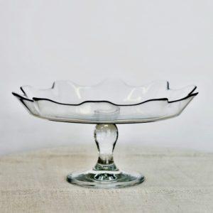 Stojan na dort sklo, vlnky, prům. 31 cm, k dispozici 2 ks