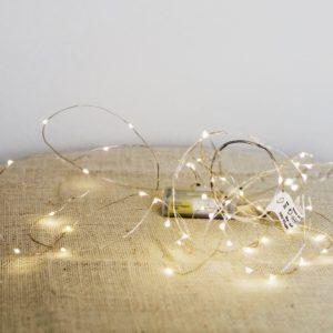 Světýlka na drátku 5m, k dispozici 10 ks, na baterky