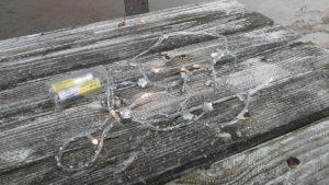 Světelná šňůra 1,5m, na baterky