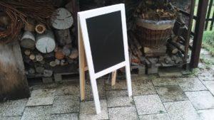 Tabule áčko bílá dřevěná, 50 x 105 cm