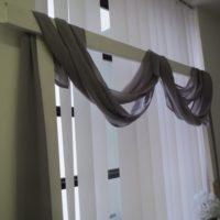 Textilie - šifon na slavobránu, stůl, šedá, 5m-1