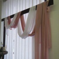Textilie - šifon na slavobránu, stůl, pudrově růžová, 5m