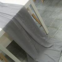 Textilie - šifon na stůl, šedá, 3m
