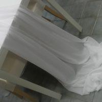 Textilie - šifon na stůl, bílá, 3m
