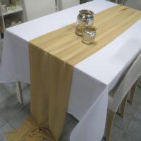Textilie - šifon na stůl, hnědá, 3m