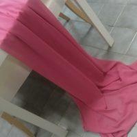 Textilie - šifon na stůl, tmavě růžová, 3m